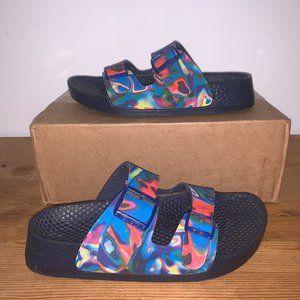 Vintage Tie Dye Birkenstock Sandals